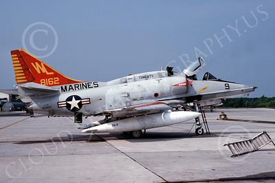A-4USMC 00036 A USMC Douglas A-4M Skyhawk, 158162, attack jet, VMA-311 TOMCATS, 5-1976, airplane picture, by L B Sides