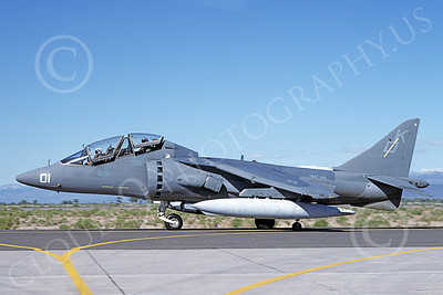 TAV-8B-USMC 00001 A taxing McDonnell Douglas TAV-8B Harrier USMC 164542 KD code VMAT-203 HAWKS NAS Fallon 6-1993 airplane picture by Carl E Porter