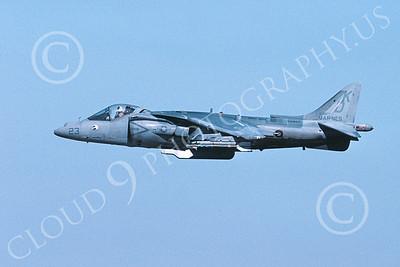 AV-8B-USMC 00058 A flying McDonnell Douglas AV-8B Harrier USMC 163877 VMAT-203 HAWKS KD code 11-2005 airplane picture by Michael Grove, Sr