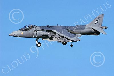 AV-8B-USMC 00064 A landing McDonnell Douglas AV-8B Harrier USMC KD code VMAT-203 HAWKS 11-2005 airplane picture by Michael Grove, Sr