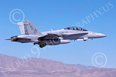 F-18USMC 00138 A flying McDonnell Douglas F-18D Hornet USMC VMFA(AW)-224 FIGHTING BENGALS 2-2006 military airplane picture by Michael Grove, Sr