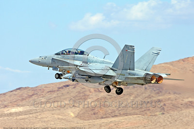 F-18USMC-VMFA(AW)-121 0026 A McDonnell Douglas F-18D Hornet USMC jet fighter 164670 VMFA(AW)-121 GREEN KNIGHTS takes off in afterburner at Nellis AFB 2011 military airplane picture by Carl E Porter     DONEwt copy
