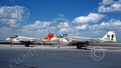 A-6USMC 00205 Two taxing Grumman A-6 Intruders USMC 155638 VMA(AW)-121 GREEN KNIGHTS VK code NAS Fallon 9-1978 military airplane picture by Michael Grove, Sr