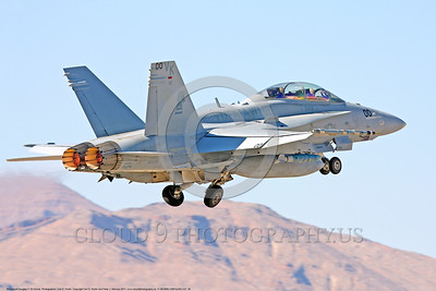 F-18USMC-VMFA(AW)-121 0040 A McDonnell Douglas F-18D Hornet USMC jet fighter 165530 VMFA(AW)-121 GREEN KNIGHTS commanding officer's airplane takes off in afterburner at Nellis AFB 2011 military airplane picture by Carl E Porter     DONEwt copy