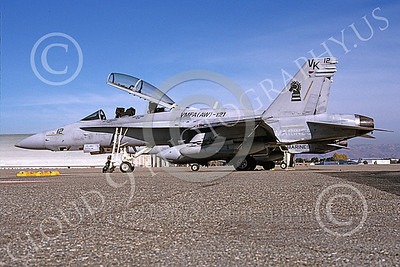 F-18USMC 00175 A static McDonnell Douglas F-18D Hornet USMC 165529 VMFA(AW)-121 GREEN KNIGHTS NAS Moffett 11-2003 military airplane picture by Michael Grove, Sr