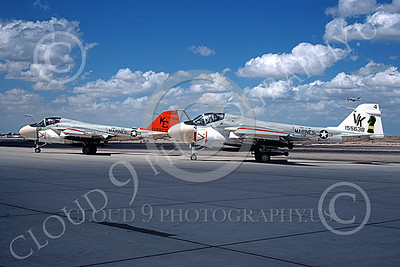 A-6USMC 00191 Two taxing Grumman A-6 Intruders USMC 155638 VMA(AW)-121 GREEN KNIGHTS VK code NAS Fallon 9-1978 military airplane picture by Michael Grove, Sr