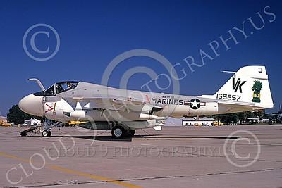 A-6USMC 00183 A static Grumman A-6 Intruder USMC 155657 VMA(AW)-121 GREEN KNIGHTS VK code NAF Washington 10-1974 military airplane picture by William Graf