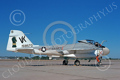 A-6USMC 00189 A static Grumman A-6 Intruder USMC 159570 VMA(AW)-121 GREEN KNIGHTS VK code 10-1976 military airplane picture by Dr Carlton A Eddy