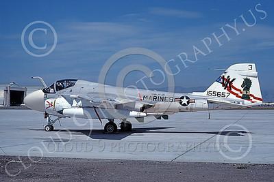 A-6USMC 00193 A static Grumman A-6 Intruder USMC 155657 VMA(AW)-121 GREEN KNIGHTS VK code BICENTENNIAL NAS Moffett 4-1977, by Michael Grove, Sr