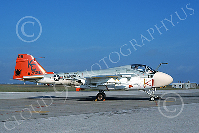 A-6USMC 00157 A static Grumman A-6 Intruder USMC 152620 VMAT(AW)-202 DOUBLE EAGLES KC code 11-1977 military airplane picture by Michael Grove, Sr