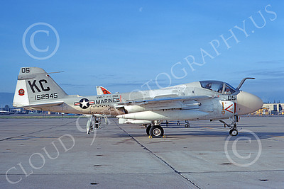 A-6USMC 00167 A static Grumman A-6 Intruder USMC 152945 VMAT(AW)-202 DOUBLE EAGLES KC code 3-1974 military airplane picture by Michael Grove, Sr