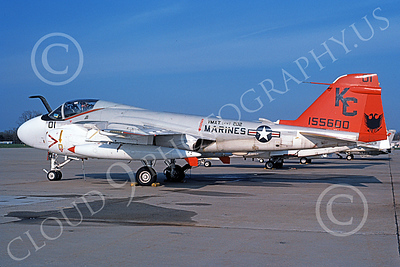 A-6USMC 00151 A static Grumman A-6E Intruder USMC 155600 VMAT(AW)-202 DOUBLE EAGLES KC code 4-1982 military airplane picture by Michael Grove, Sr