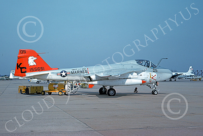 A-6USMC 00153 A static Grumman A-6 Intruder USMC 155651 VMAT(AW)-202 DOUBLE EAGLES KC code 3-1976 military airplane picture by Bruce Stewart