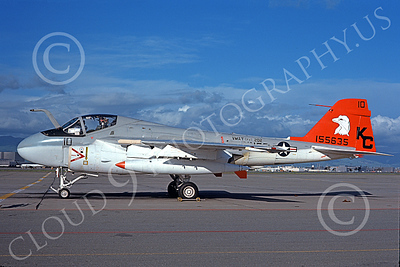 A-6USMC 00163 A static Grumman A-6 Intruder USMC 155635 VMAT(AW)-202 DOUBLE EAGLES KC code NAS Moffett 8-1975 military airplane picture by Michael Grove, Sr