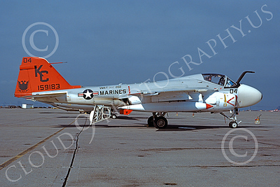 A-6USMC 00159 A static Grumman A-6 Intruder USMC 159183 VMAT(AW)-202 DOUBLE EAGLES KC code NAS Alameda 3-1979 military airplane picture by Michael Grove, Sr