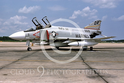 F4USMC 00002 VMFA-312 1974 MCAS Cherry Pt by Bill Curry