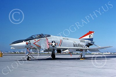 F-4USMC 00521 A static McDonnell Douglas F-4J USMC 3006 VMFA-351 NAS North Island 6-1976 military airplane picture by Mick Roth