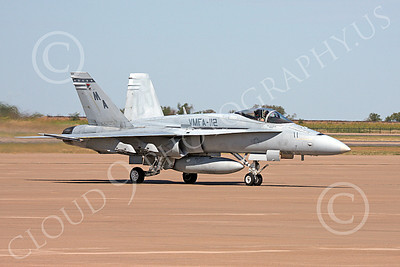 F-18USMC 00031 A Boeing USMC F-18A Hornet jet fighter VMFA-112 COWBOYS taxing at Alliance Airport, Ft  Worth, TX, military airplane picture, by Tim Perkins