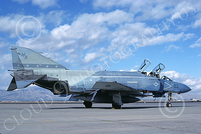 F-4USMC 00363 A static McDonnell Douglas F-4 Phantom II USMC VMFA-112 COWBOYS MA code Luke AFB 11-1985 military airplane picture by Michael Grove, Sr