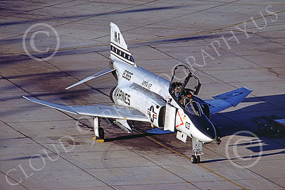 F-4USMC 00108 A static McDonnell Douglas F-4 Phantom II USMC 158365 VMFA-112 COWBOYS MA MCAS Yuma Nov 1984 military airplane picture by Peter J Mancus