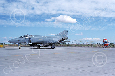 F-4USMC 00355 A taxing McDonnell Douglas F-4 Phantom II USMC VMFA-112 COWBOYS MA code NAS Fallon 6-1990 military airplane picture by Michael Grove, Sr