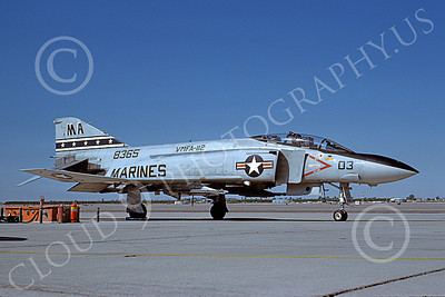 F-4USMC 00132 A static McDonnell Douglas F-4 Phantom II USMC 158365 VMFA-112 COWBOYS MA MCAS Yuma Nov 1984 military airplane picture by Peter J Mancus