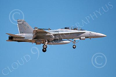 F-18USMC 00084 A landing McDonnell Douglas F-18D Hornet USMC 161723 VMFA-112 COWBOYS 6-1994 airplane picture, by Michael Grove, Sr