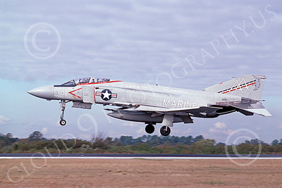 F-4USMC 00306 McDonnell Douglas F-4J Phantom II USMC 155781 VMFA-115 SILVER EAGLES USS Forrestal  AA Jan 1981 military airplane picture by Michael Grove, Sr