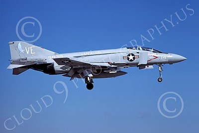 F-4USMC 00120 A landing McDonnell Douglas F-4N Phantom II USMC 155830 VMFA-115 SILVER EAGLES Sept 1978 military airplane picture by Michael Grove, Sr