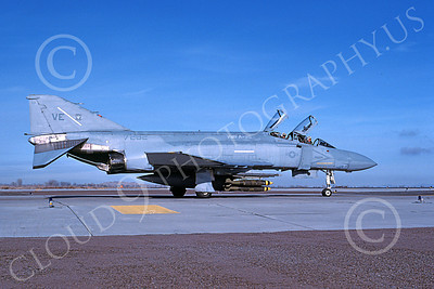 F-4USMC 00259 A taxing McDonnell Douglas F-4N Phantom II USMC 157282 VMFA-115 SILVER EAGLES VE code with bombs NAS Fallon 11-1983 military airplane picture by Michael Grove, Sr