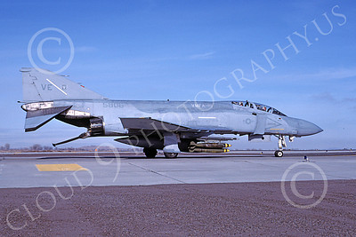 F-4USMC 00329 A taxing McDonnell Douglas F-4N Phantom II USMC 15806 VMFA-115 SILVER EAGLES VE code with bombs NAS Fallon 11-1983 military airplane picture by Michael Grove, Sr