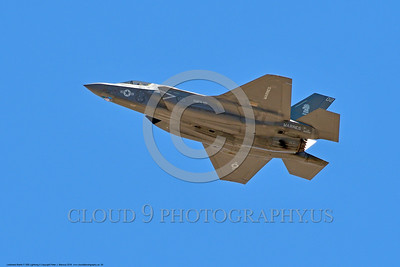 F-35USMC 00004 A flying Lockheed Martin F-35 Lightning II USMC 169166 VMFA-121 GREEN KNIGHTS VK tail code stealth jet fighter 7-2016 military airplane picture by Peter J  Mancus