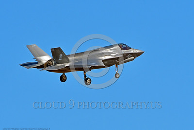 F-35USMC 00028 A quarter rear view of a landing Lockheed Martin F-35B Lightning II USMC VMFA-121 GREEN KNIGHTS VK tail code stealth jet fighter 7-2016 military airplane picture by Peter J  Mancus