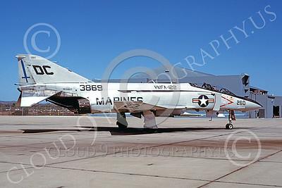 F-4USMC 00533 A static McDonnell Douglas F-4J USMC 153869 VMFA-122 CRUSADERS NAF Wash DC code 11-1979 military airplane picture by Michael Grove, Sr