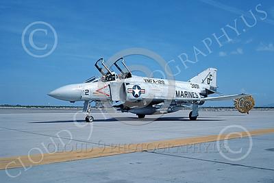 F-4USMC 00269 A taxing McDonnell Douglas F-4J Phantom II USMC 153891 VMFA-122 CRUSADERS DC code MCAS Yuma 10-1983 military airplane picture by Peter J Mancus