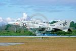 F-4II-USMC-VMFA-122 0001 A landing McDonnell Douglas F-4S Phantom II USMC jet fighter 153907 VMFA-122 CRUSADERS DC code MCAS Beaufort 1-1981 military airplane picture by Michael Grove, Sr    ...