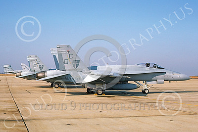 F-18USMC 00035 A static McDonnell Douglas F-18 Hornet USMC 161984 VMFA-122 WEREWOLVES Andrews AFB 12-1986 military airplane picture by Barry Roop