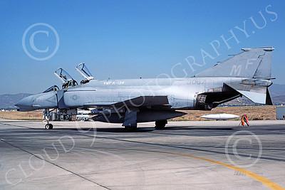 F-4USMC 00281 A static McDonnell Douglas F-4N Phantom II USMC 153067 VMFA-134 SMOKE MF code MCAS El Toro 11-1985 military airplane picture by Michael Grove, Sr