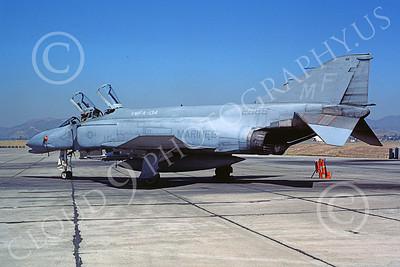 F-4USMC 00515 A static McDonnell Douglas F-4N USMC 152968 VMFA-134 SMOKE MCAS El Toro 11-1985 military airplane picture by Michael Grove, Sr