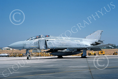 F-4USMC 00525 A static McDonnell Douglas F-4J USMC 157292 VMFA-134 SMOKE MCAS El Toro 7-1986 military airplane picture by Michael Grove, Sr