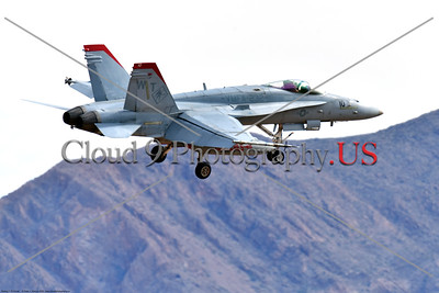 F-18USMC-VMFA-232 013 A Boeing F-18C Hornet USMC VMFA-232 RED DEVILS landing at Nellis AFB during a Red Flag exercise 3-2020 military airplane picture by Peter J  Mancus     852_0624     DONEwt