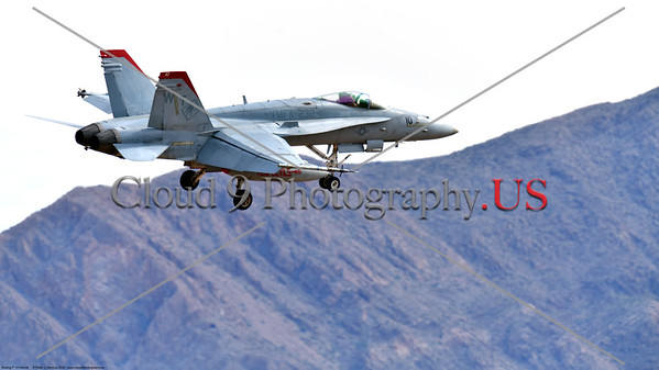 F-18USMC-VMFA-232 003 A Boeing F-18C Hornet USMC VMFA-232 RED DEVILS landing at Nellis AFB during a Red Flag exercise 3-2020 military airplane picture by Peter J  Mancus     852_0624     DONEwt