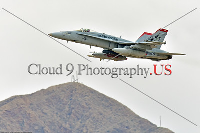 F-18USMC-VMFA-232 002 A Boeing F-18C Hornet USMC 164696 VMFA-232 RED DEVILS climbs out after take off during a Nellis AFB Red Flag exercise 3-2020 military airplane picture by Peter J  Mancus     852_3747     DONEwt