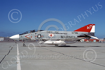 F-4USMC 00301 McDonnell Douglas F-4J Phantom II USMC 153796 VMFA-232 RED DEVILS WT Nov 1977 military airplane picture by Michael Grove, Sr