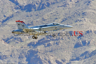 F-18USMC-VMFA-232 004 A Boeing F-18C Hornet USMC jet fighter 165208 VMFA-232 RED DEVILS landing at Nellis AFB during a Red Flag exercise 3-2020 military airplane picture by Peter J  Mancus     852_6609     DONEwt