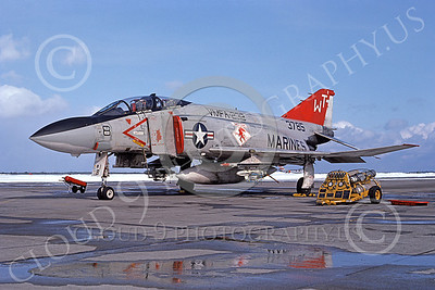 F-4USMC 00129 McDonnell Douglas F-4 Phantom II USMC 3785 VMFA-232 RED DEVILS WT 8 Feb 1977 military airplane picture by Hideki Nakagubo