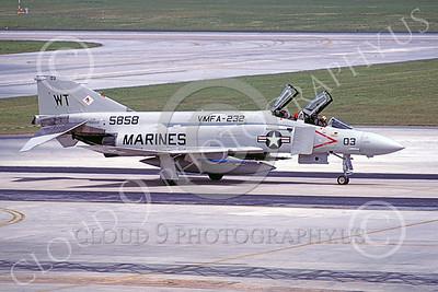 F-4USMC 00179 McDonnell Douglas F-4S Phantom II USMC 15858 VMFA-232 RED DEVILS WT military airplane picture by Hideki Nakagubo