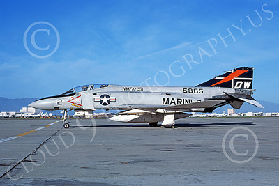 F-4USMC 00209 A static McDonnell Douglas F-4J Phantom II USMC 155865 VMFA-251 THUNDERBOLTS DW NAS Moffett April 1977 military airplane picture by Michael Grove, Sr