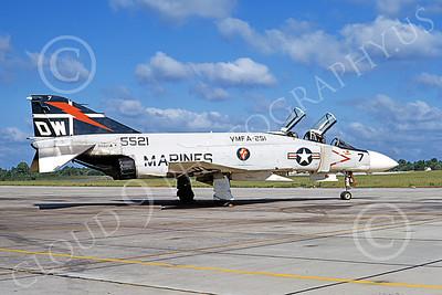 F-4USMC 00165 A static McDonnell Douglas F-4J Phantom II USMC 155521 VMFA-251 THUNDERBOLTS DW MCAS Beaufort 15 June 1972 military airplane picture by Michael Grove, Sr