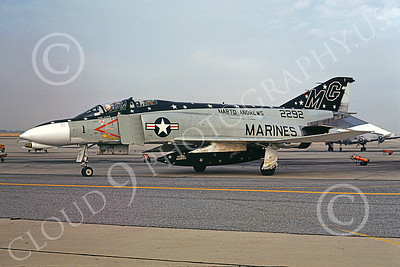 F-4USMC 00133 McDonnell Douglas F-4 Phantom II USMC 2292 MAG-41 NAF Washington Jan 1975, by Michael Grove, Sr